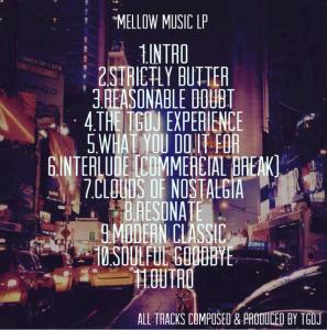 MELLOW MUSIC  FINAL TRACKLIST