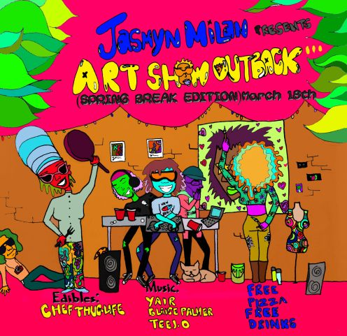 Flyer for Jasmyn's Art Showcase