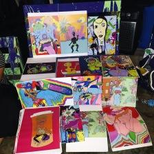 Jasmyn's artwork showcased in PR