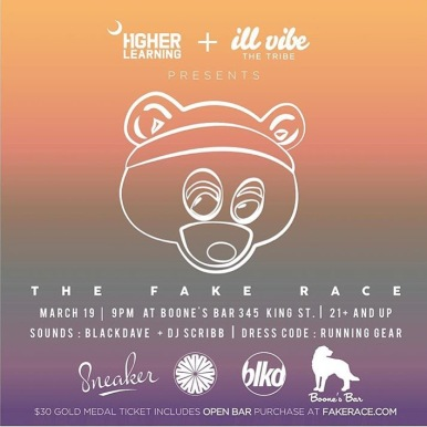 """The Fake Race"" Flyer"